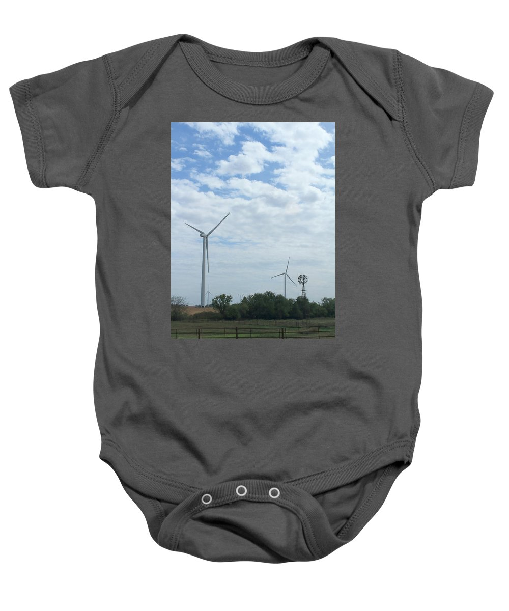 Wind Baby Onesie featuring the photograph Old And New by Brandy Imlay