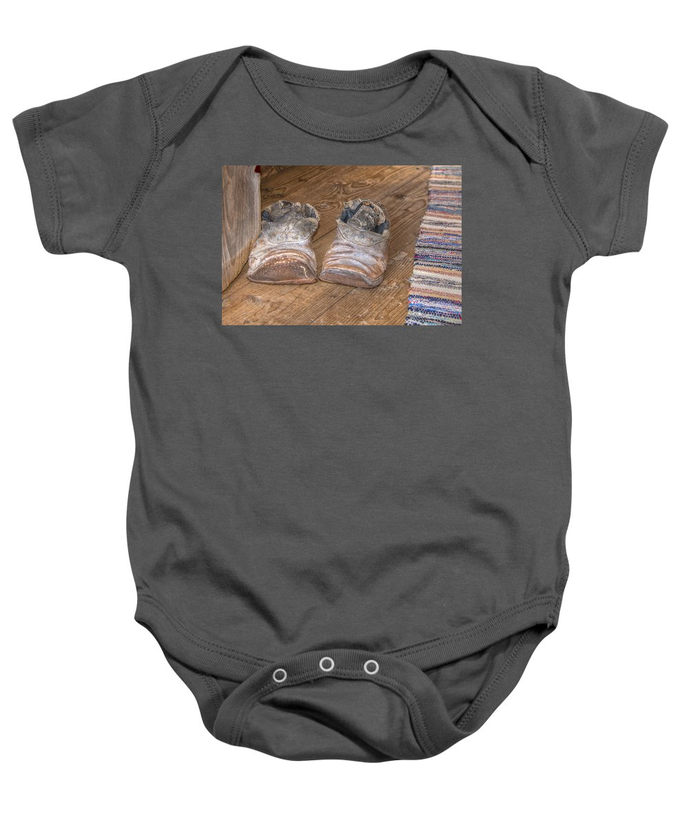 Wood Baby Onesie featuring the photograph Old And Worn 0047 by Kristina Rinell