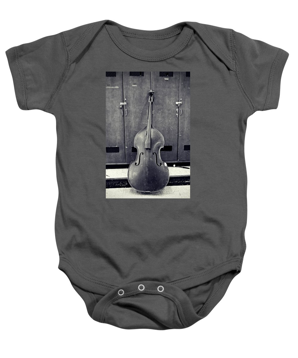Black And White Baby Onesie featuring the photograph Old Bass by Scott Wyatt