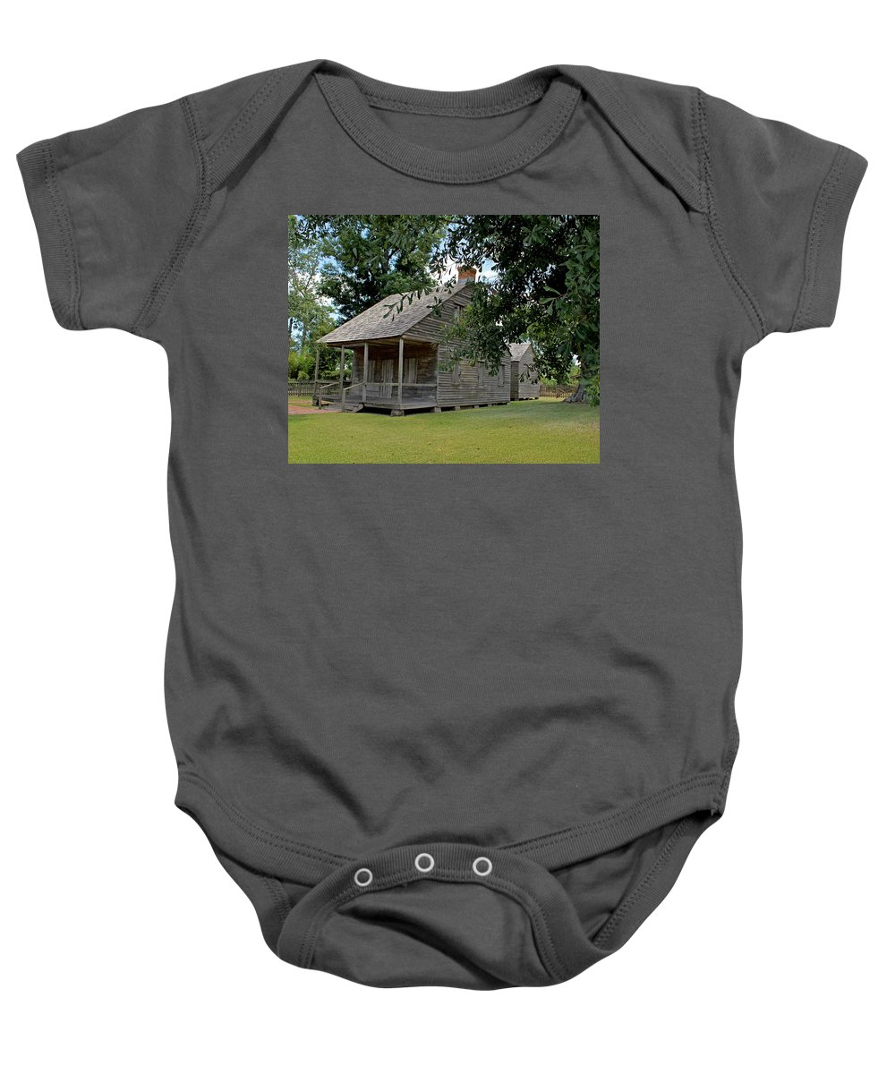 Acadian Baby Onesie featuring the photograph Old Cajun Home by Judy Vincent