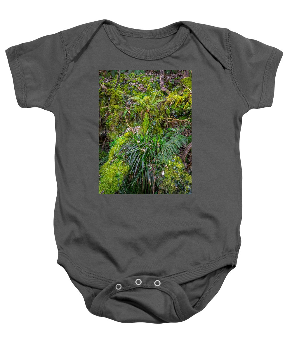 Cilgerran Baby Onesie featuring the photograph Old Disused Quarry by Mark Llewellyn