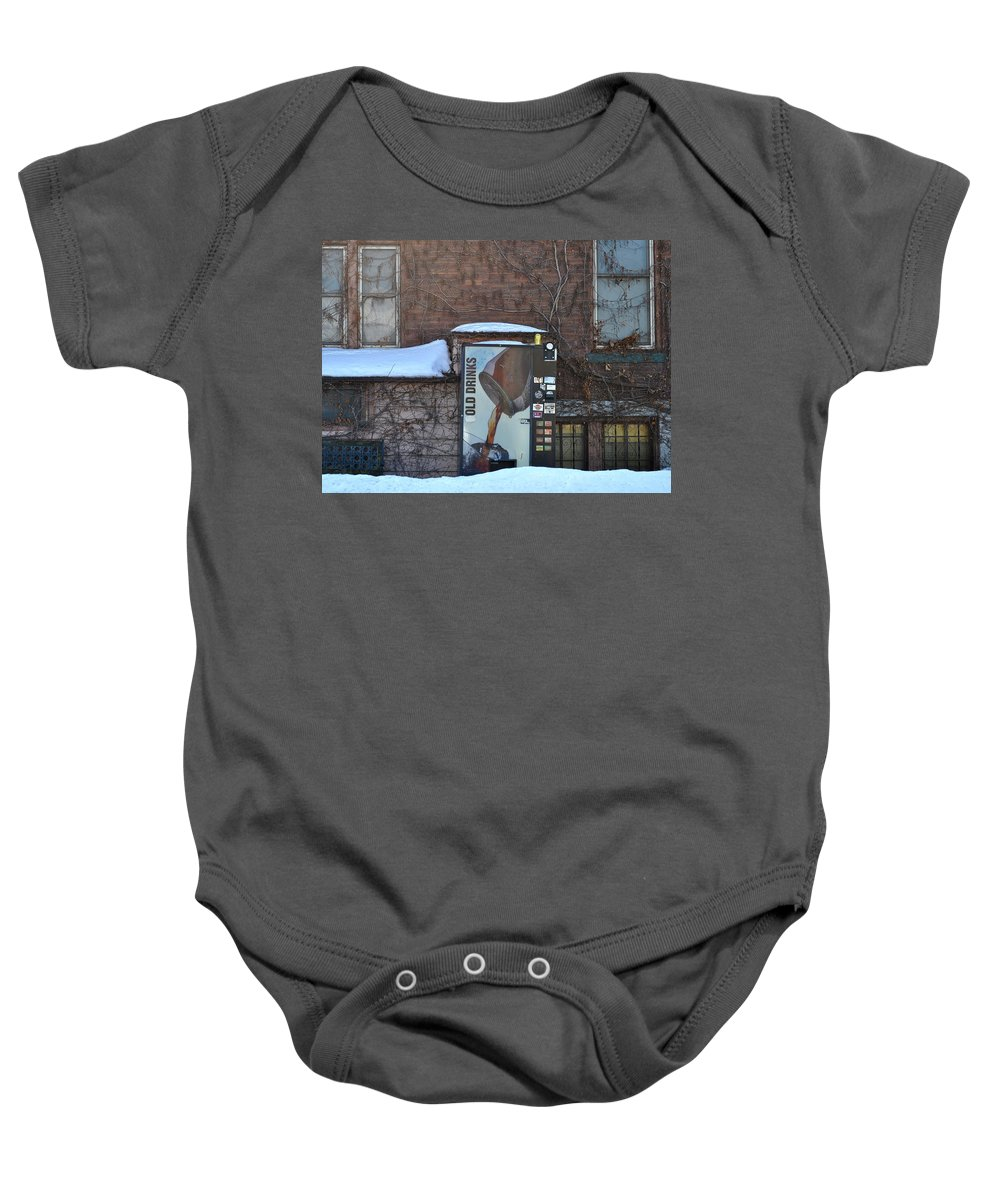 Drinks Baby Onesie featuring the photograph Old Drinks by Tim Nyberg