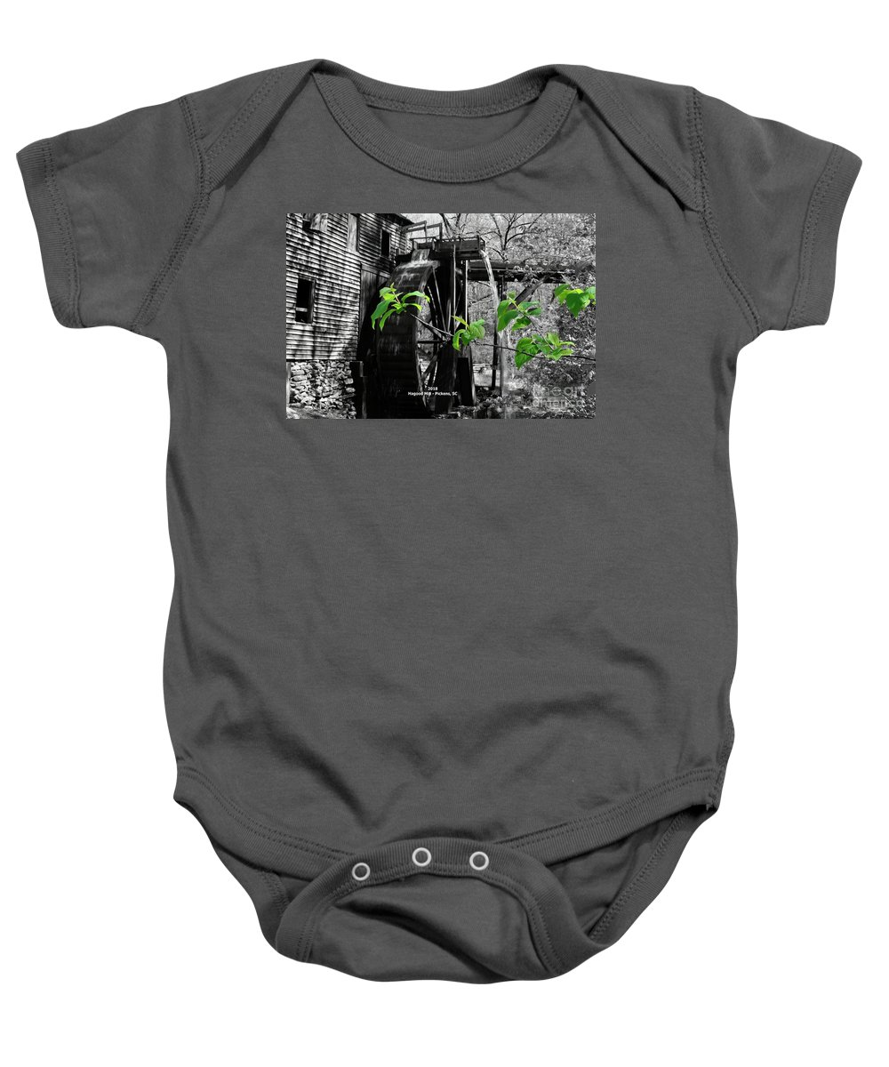 Mill Baby Onesie featuring the photograph Old Grist Mill by John R Hastings Sr