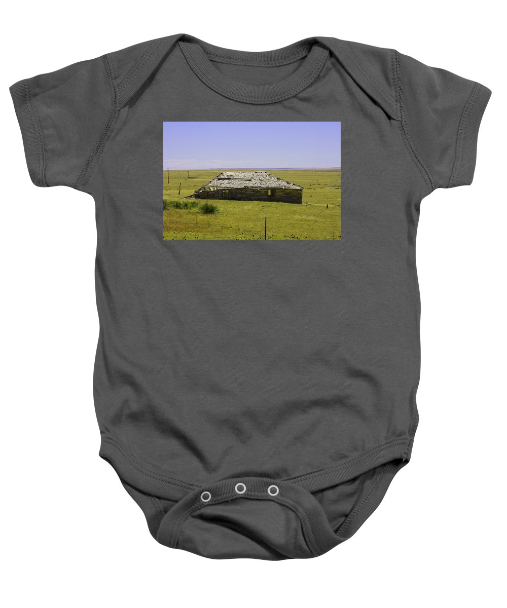 Homestead Baby Onesie featuring the photograph Old Homestead by Tommy Anderson