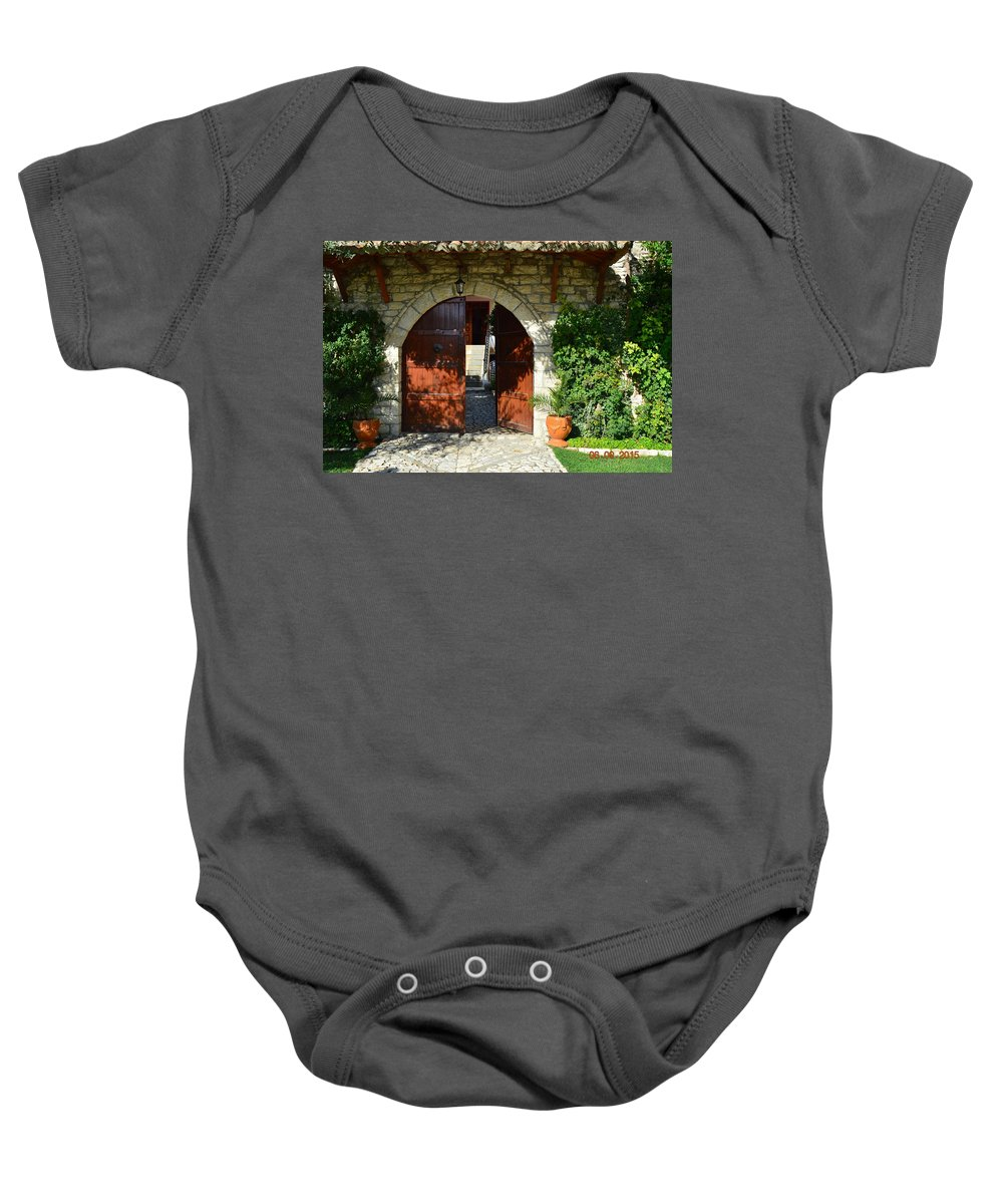 Baby Onesie featuring the photograph Old House Door by Nuri Osmani