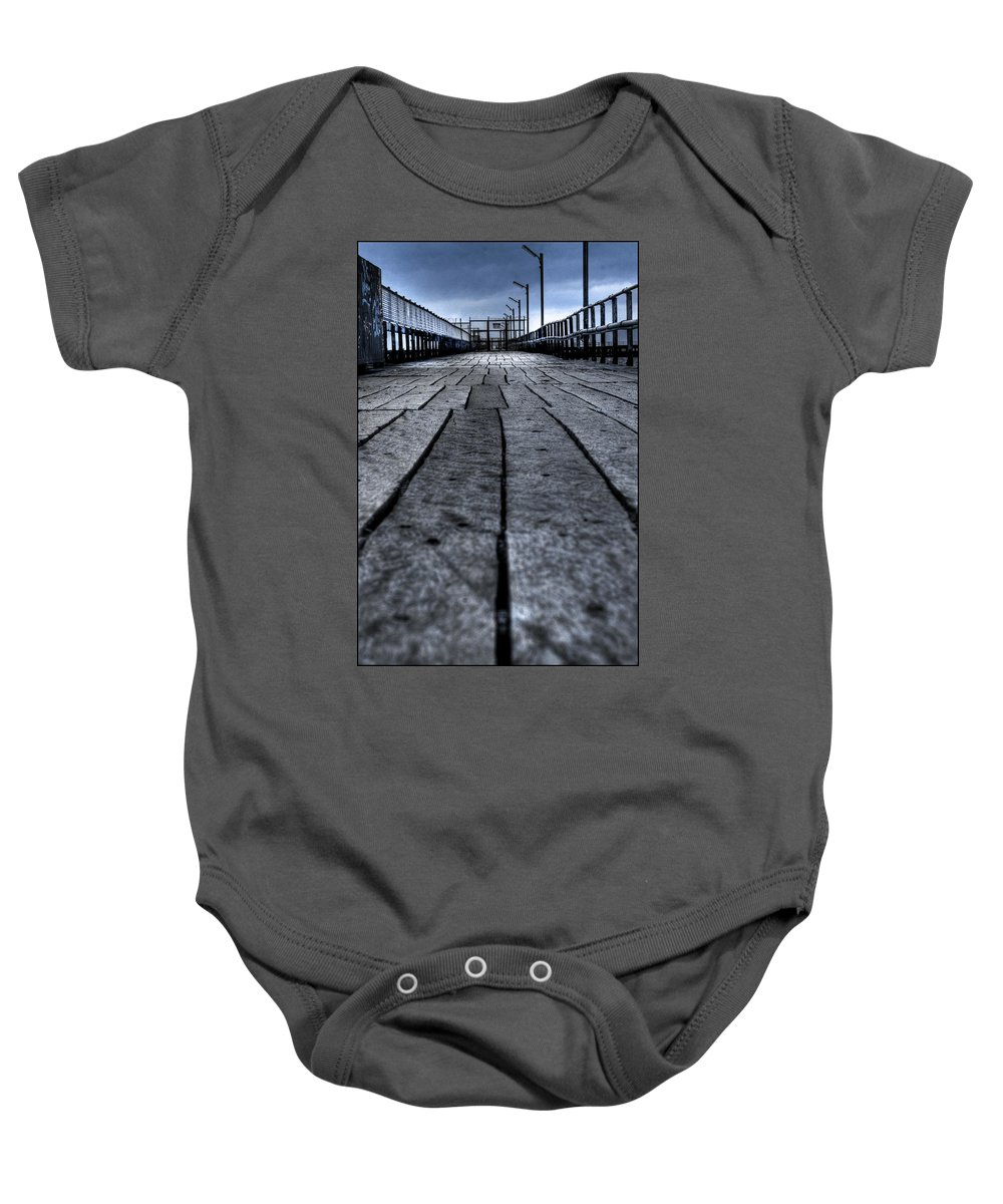 Jetty Baby Onesie featuring the photograph Old Jetty 2 by Kelly Jade King