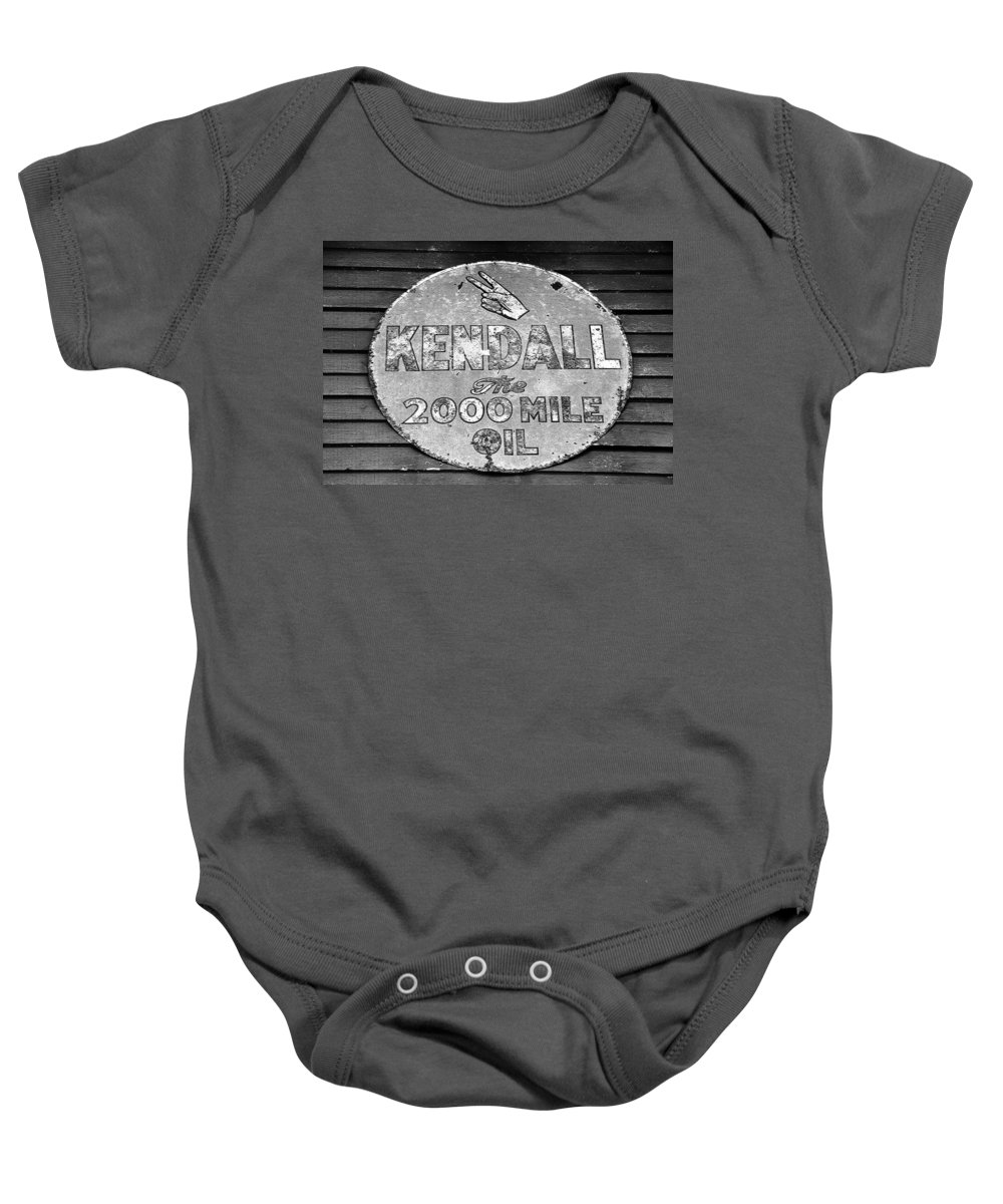 Kendal Motor Oil Sign Baby Onesie featuring the photograph Old Kendal Sign by David Lee Thompson