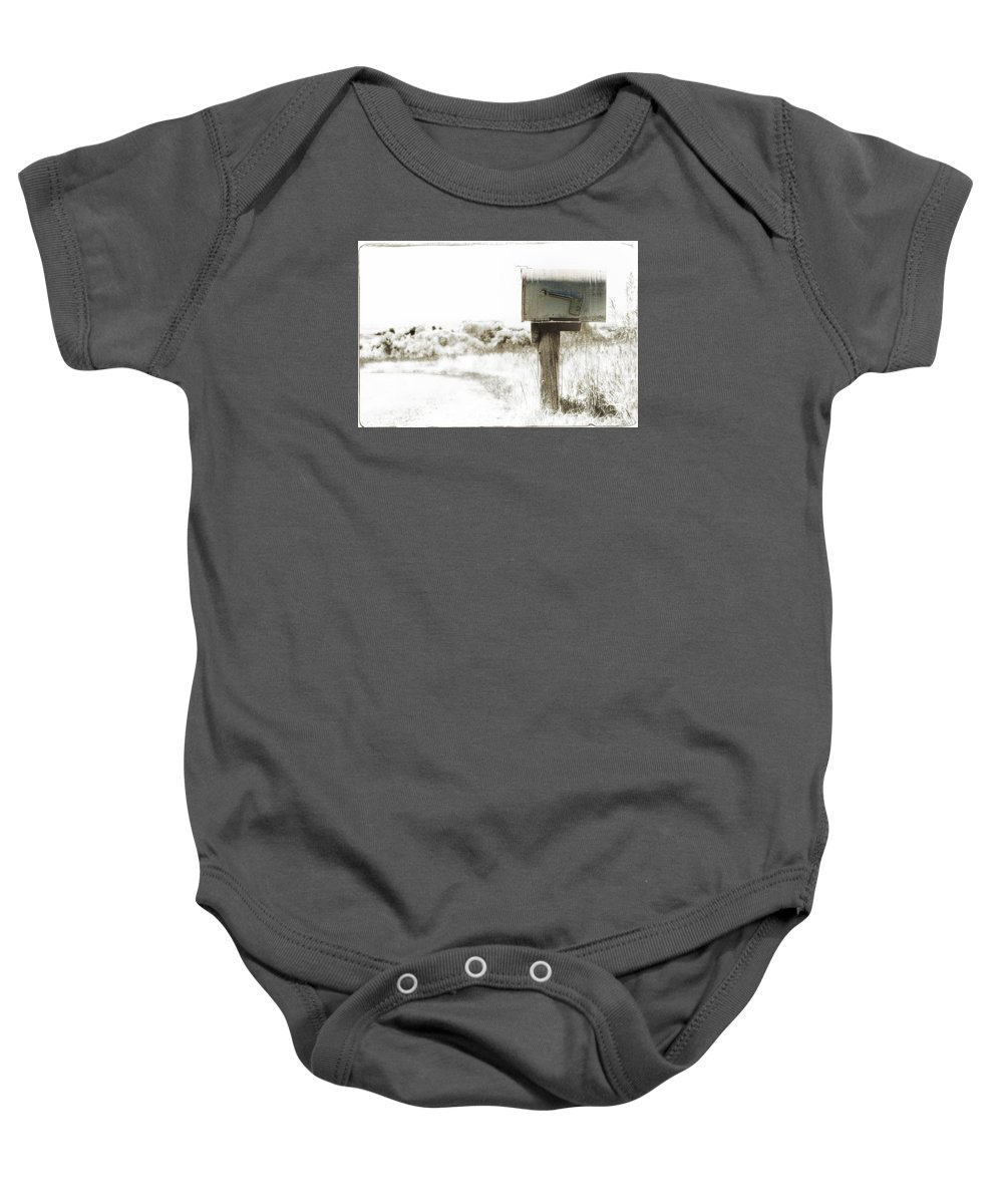 Mailbox Baby Onesie featuring the photograph Old Mailbox by K Powers Photography