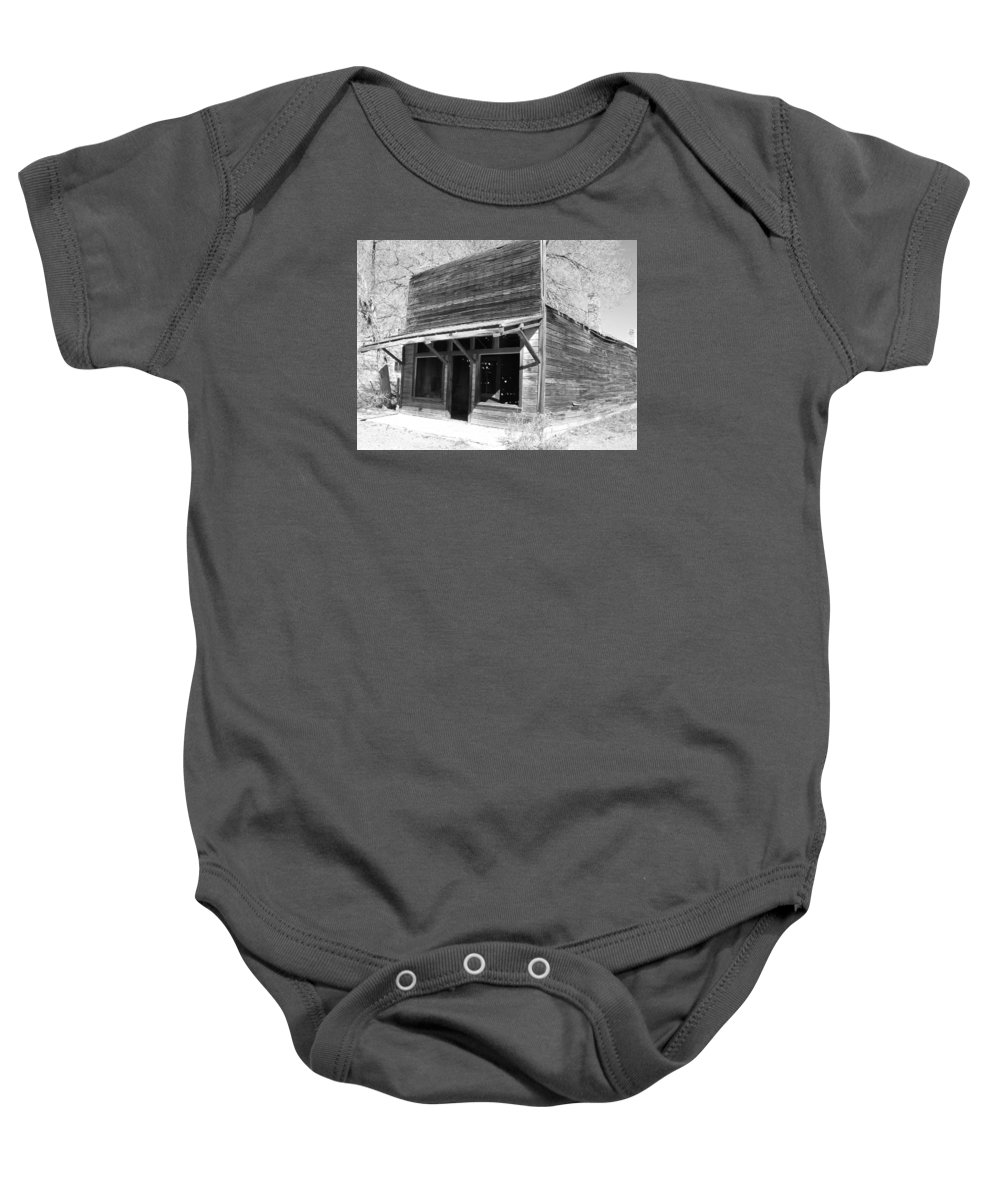 Old West Baby Onesie featuring the photograph Old Modena by Tammy Stoner