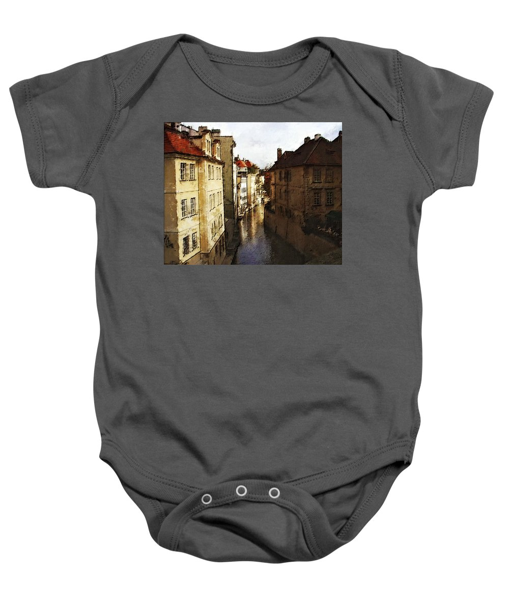 Landscape Baby Onesie featuring the photograph Old Prague by Jo-Anne Gazo-McKim