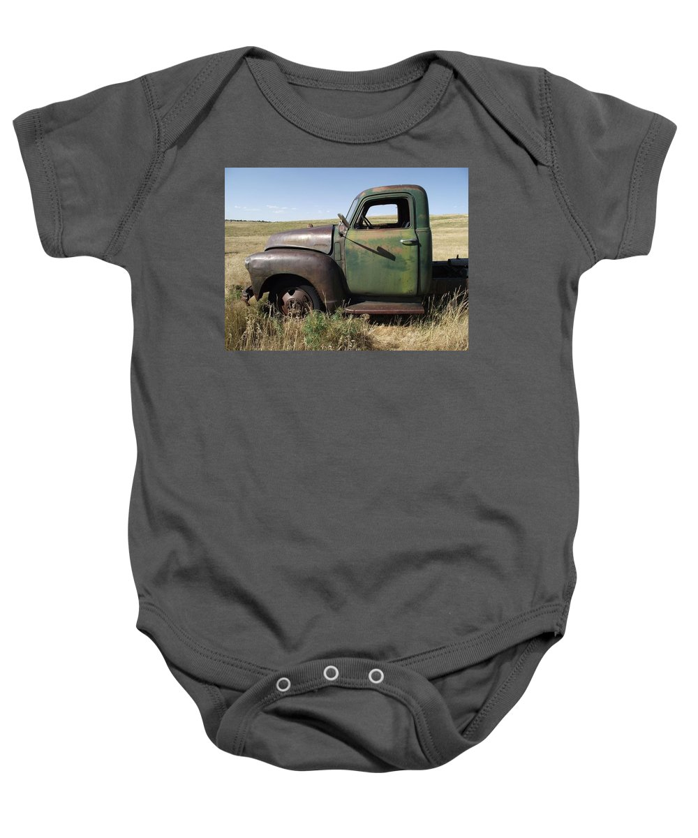 Truck Baby Onesie featuring the photograph Old Truck by Pamela Pursel