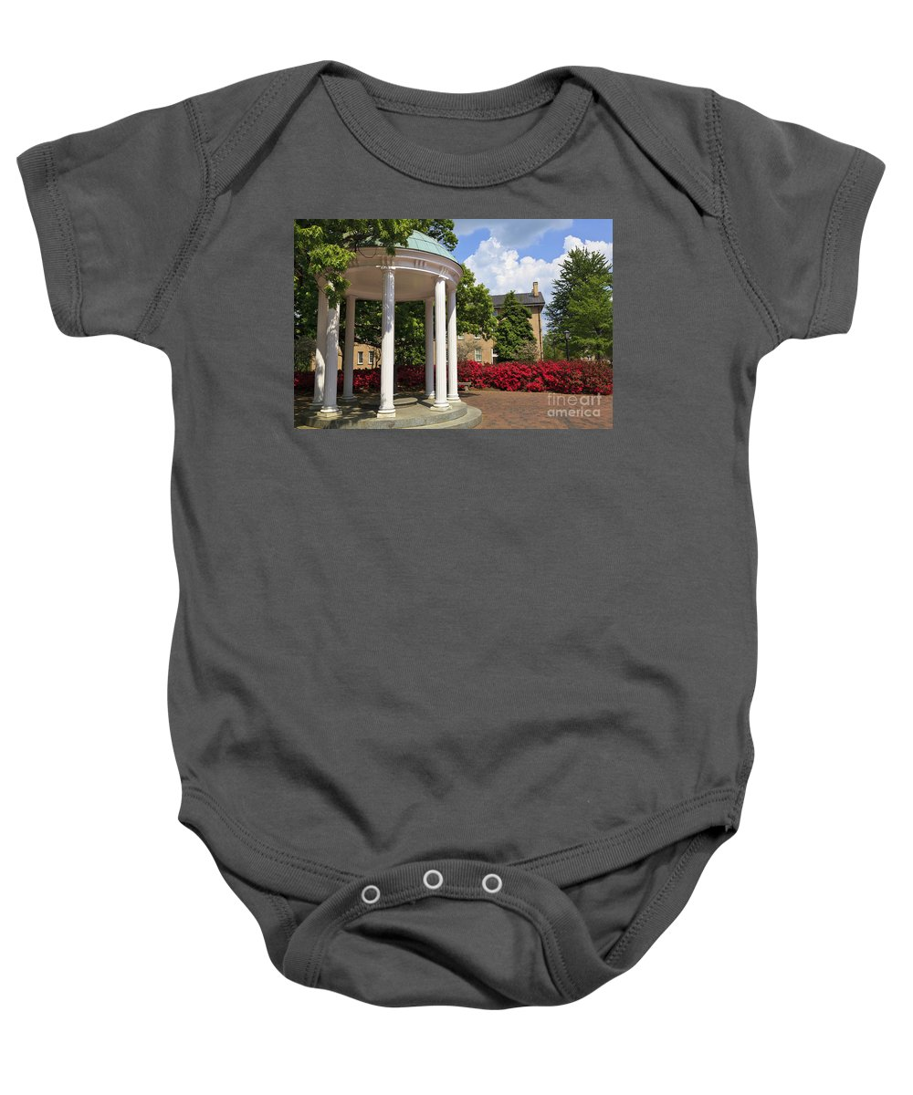 Old Well Baby Onesie featuring the photograph Old Well At Chapel Hill In Spring by Jill Lang