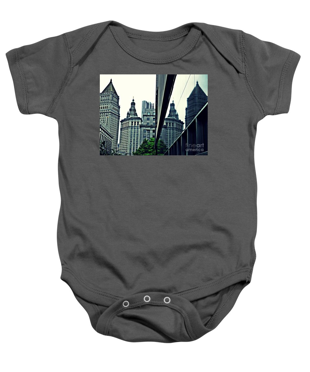 Court Houses Baby Onesie featuring the photograph On Centre Street by Sarah Loft