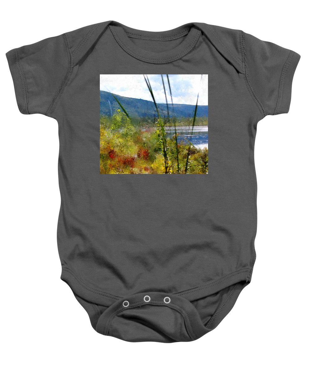 Digital Photograph Baby Onesie featuring the photograph On The Edge Of Reality by David Lane