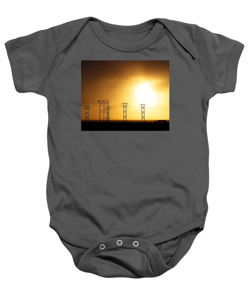 Truck Baby Onesie featuring the photograph On The Road by Anthony Jones