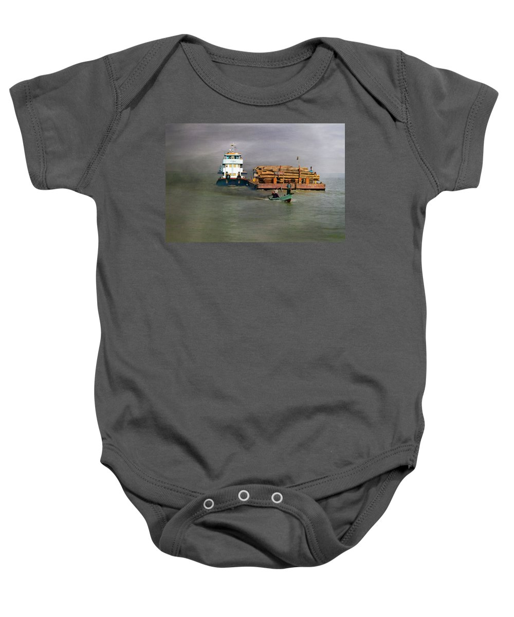 Myanmar Baby Onesie featuring the photograph On The Way To Mingun by Claude LeTien