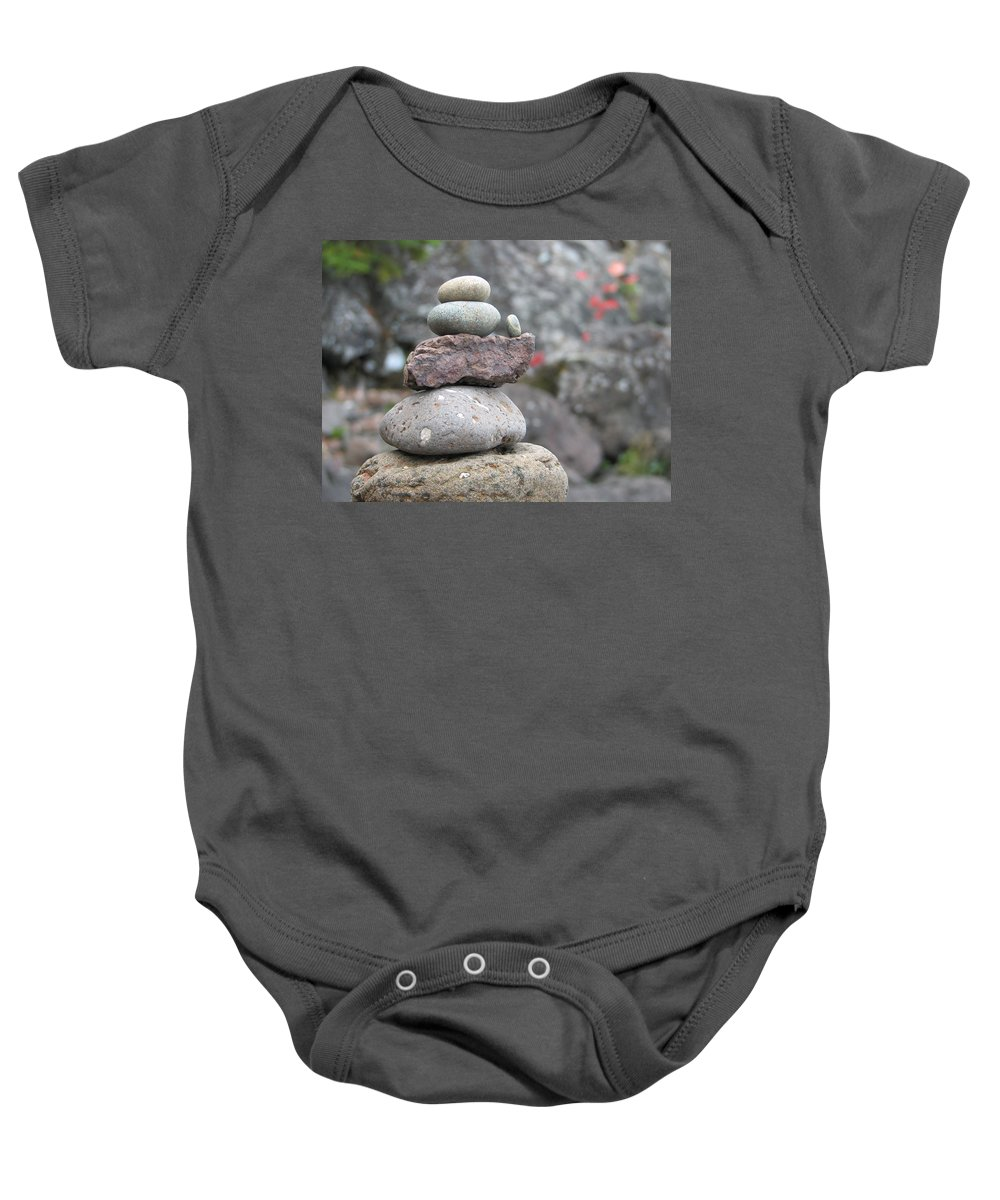 Rocks Baby Onesie featuring the photograph One More by Kelly Mezzapelle