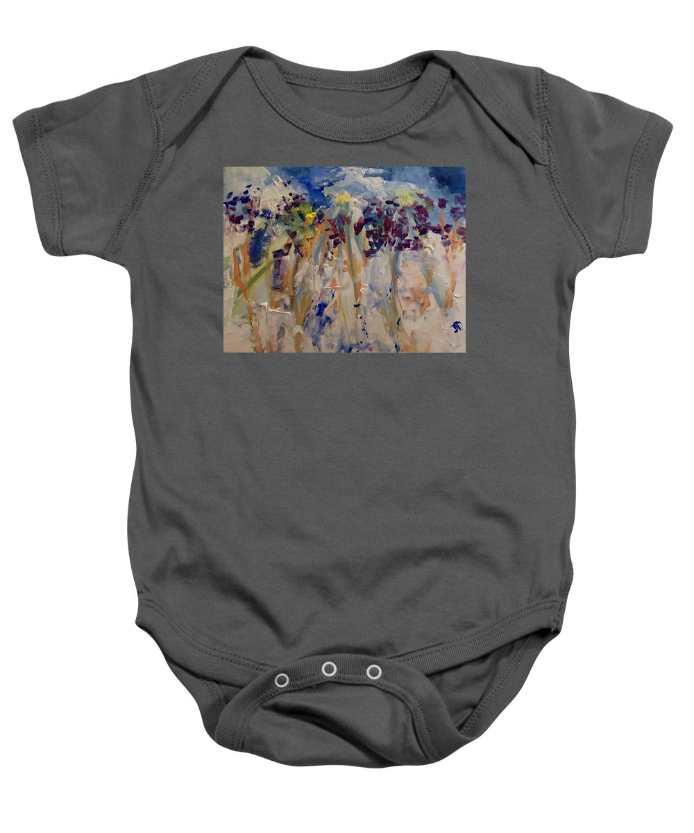 Kind Baby Onesie featuring the painting One Of A Kind by Judith Desrosiers