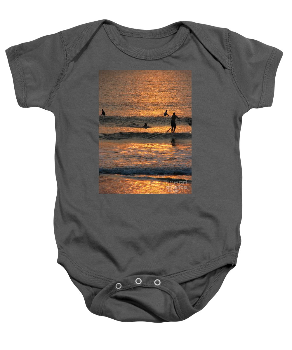 Art For The Wall...patzer Photography Baby Onesie featuring the photograph One With Nature by Greg Patzer