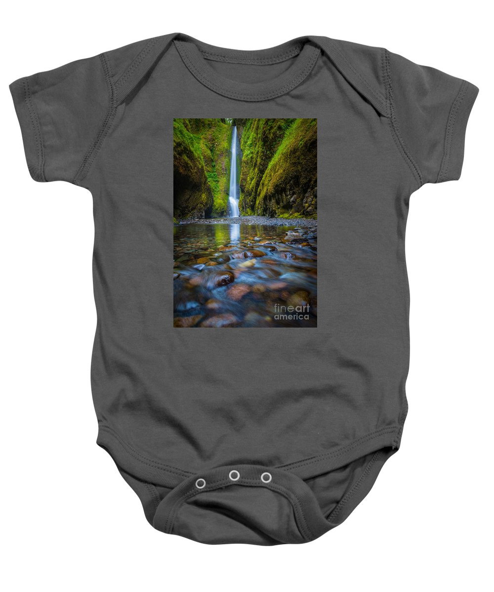 America Baby Onesie featuring the photograph Oneonta Cascades by Inge Johnsson