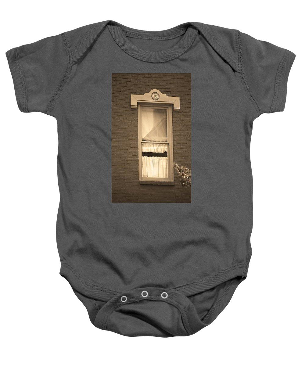 America Baby Onesie featuring the photograph Jonesborough Tennessee - One Window by Frank Romeo