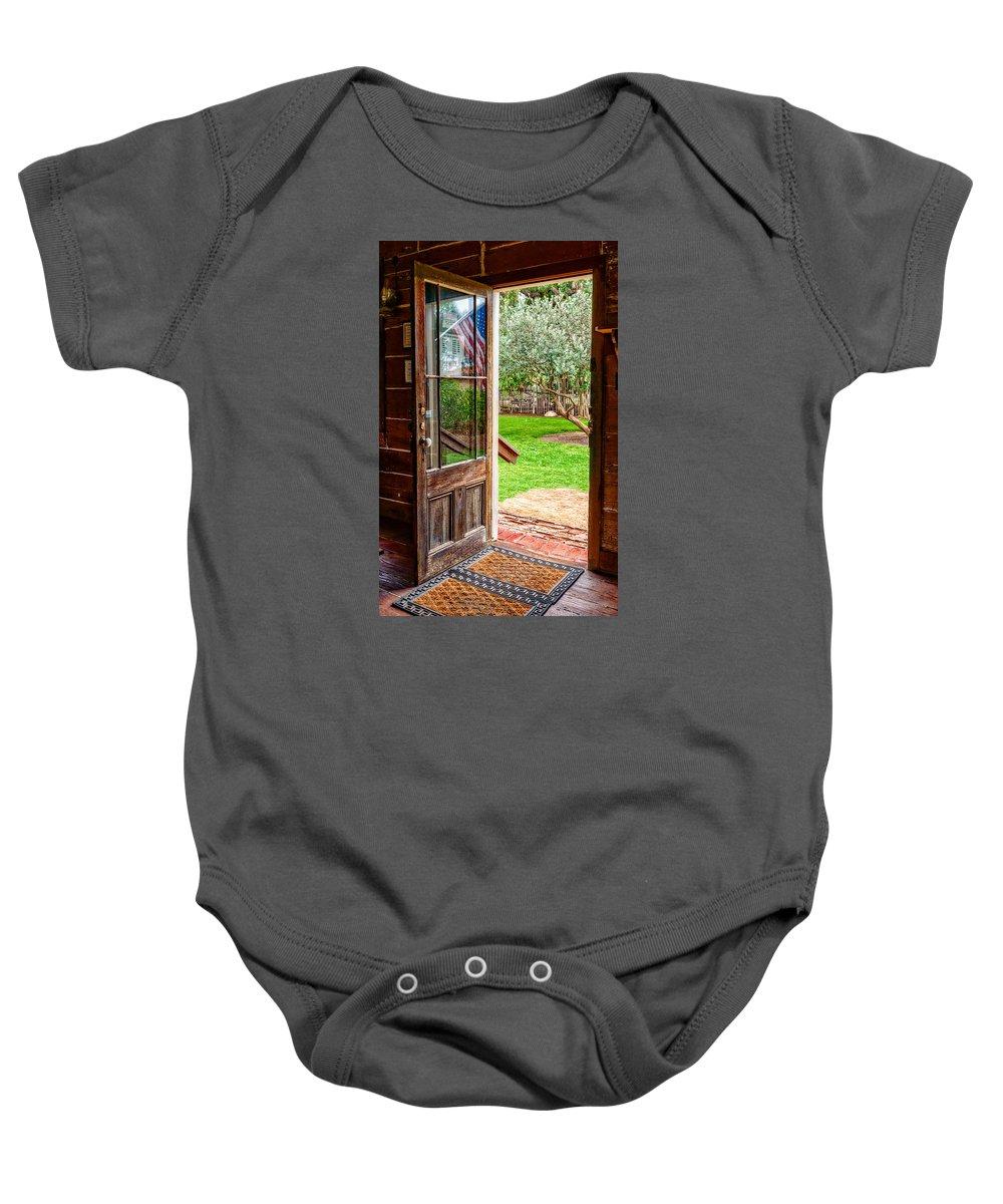 Door Baby Onesie featuring the photograph Open Door by Christopher Holmes
