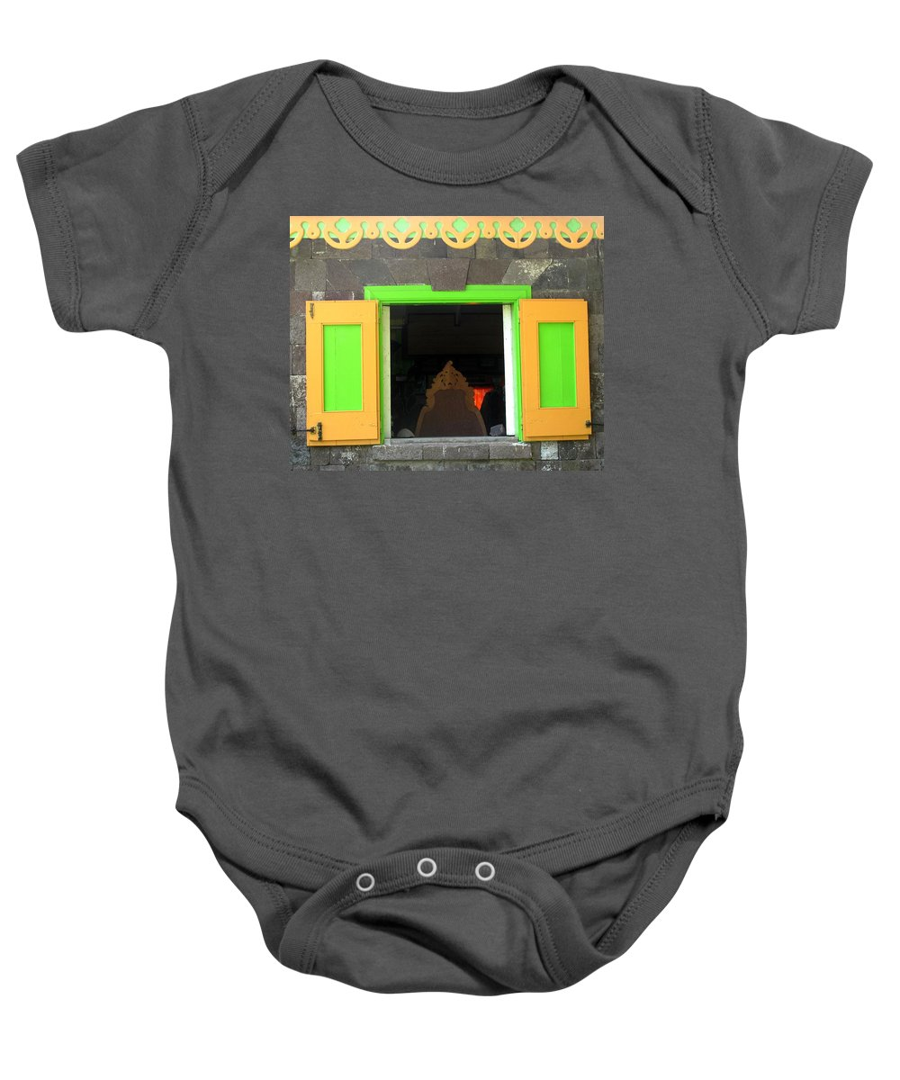 Window Baby Onesie featuring the photograph Open Window by Ian MacDonald