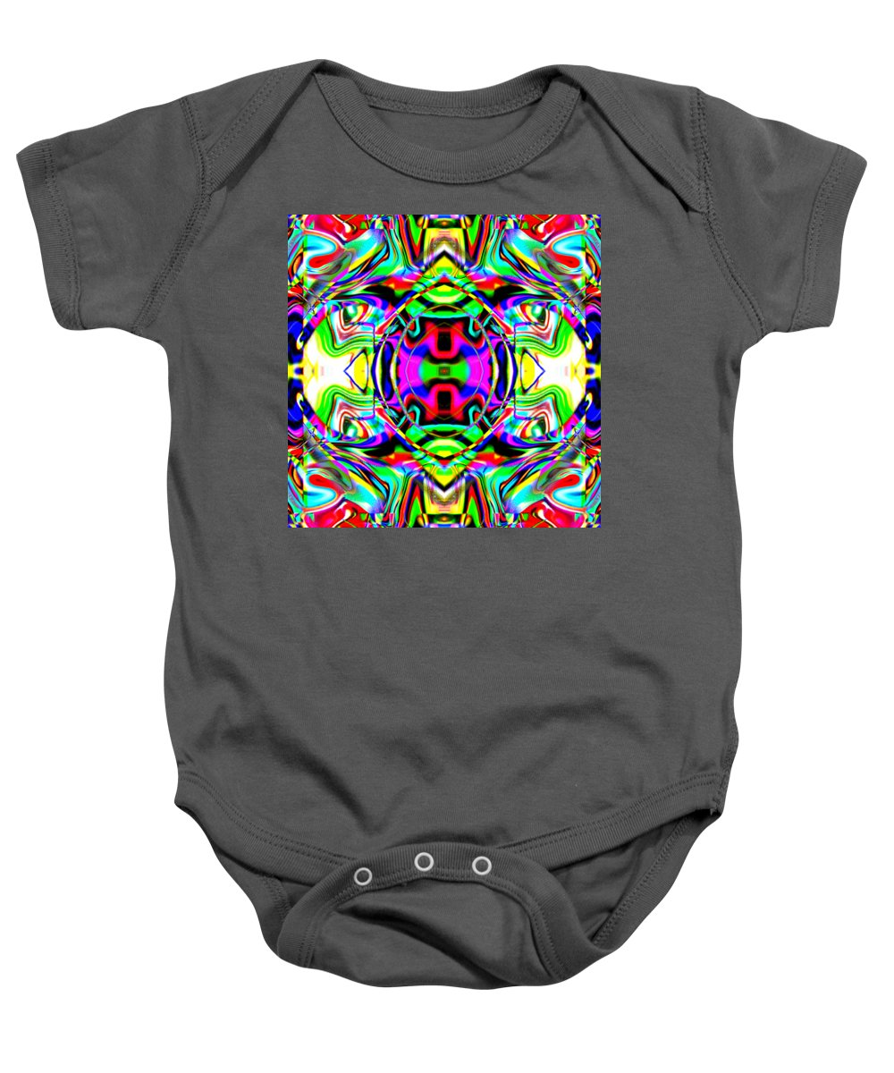Circus Baby Onesie featuring the digital art Ophex by Blind Ape Art