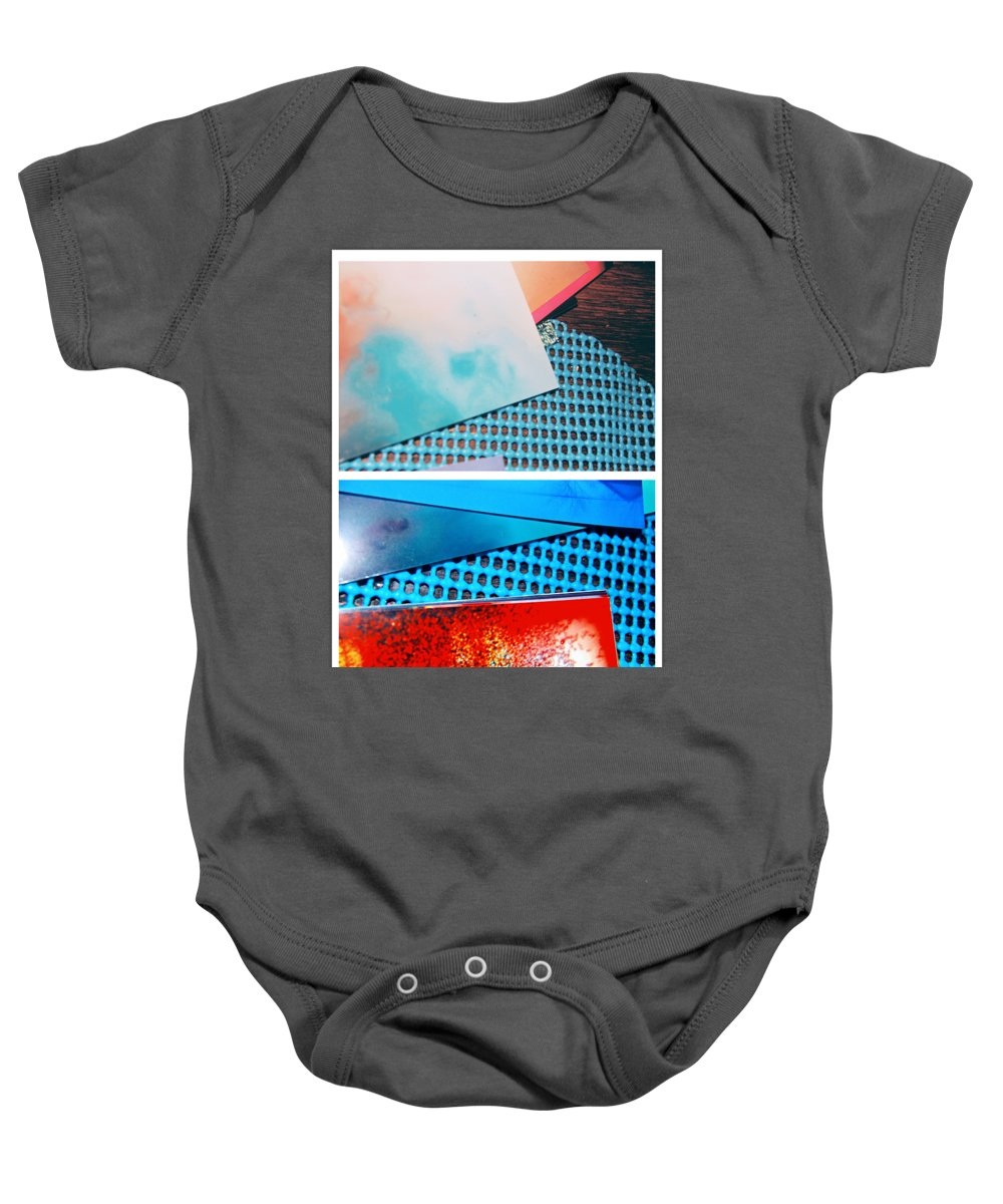 Abstract Baby Onesie featuring the photograph Orange Crazy by Alwyn Glasgow