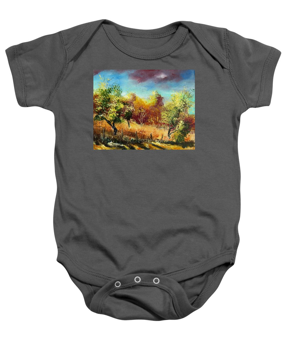 Flowers Baby Onesie featuring the painting Orchard by Pol Ledent