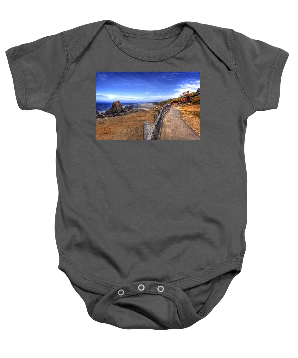 Scenic Baby Onesie featuring the photograph Oregon Coast 2 by Lee Santa