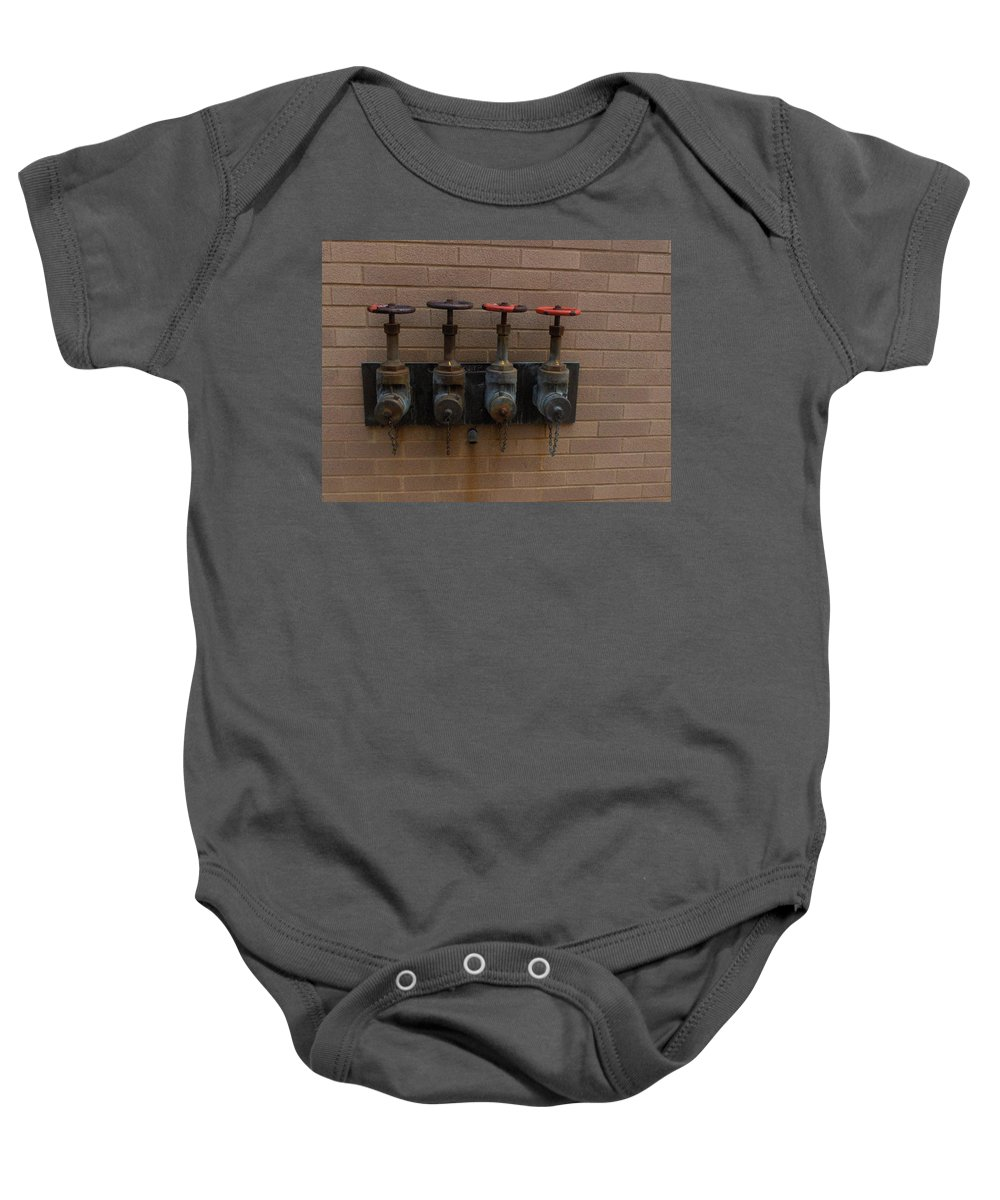 Photograph Baby Onesie featuring the photograph Original Four Pipes by Thomas Valentine