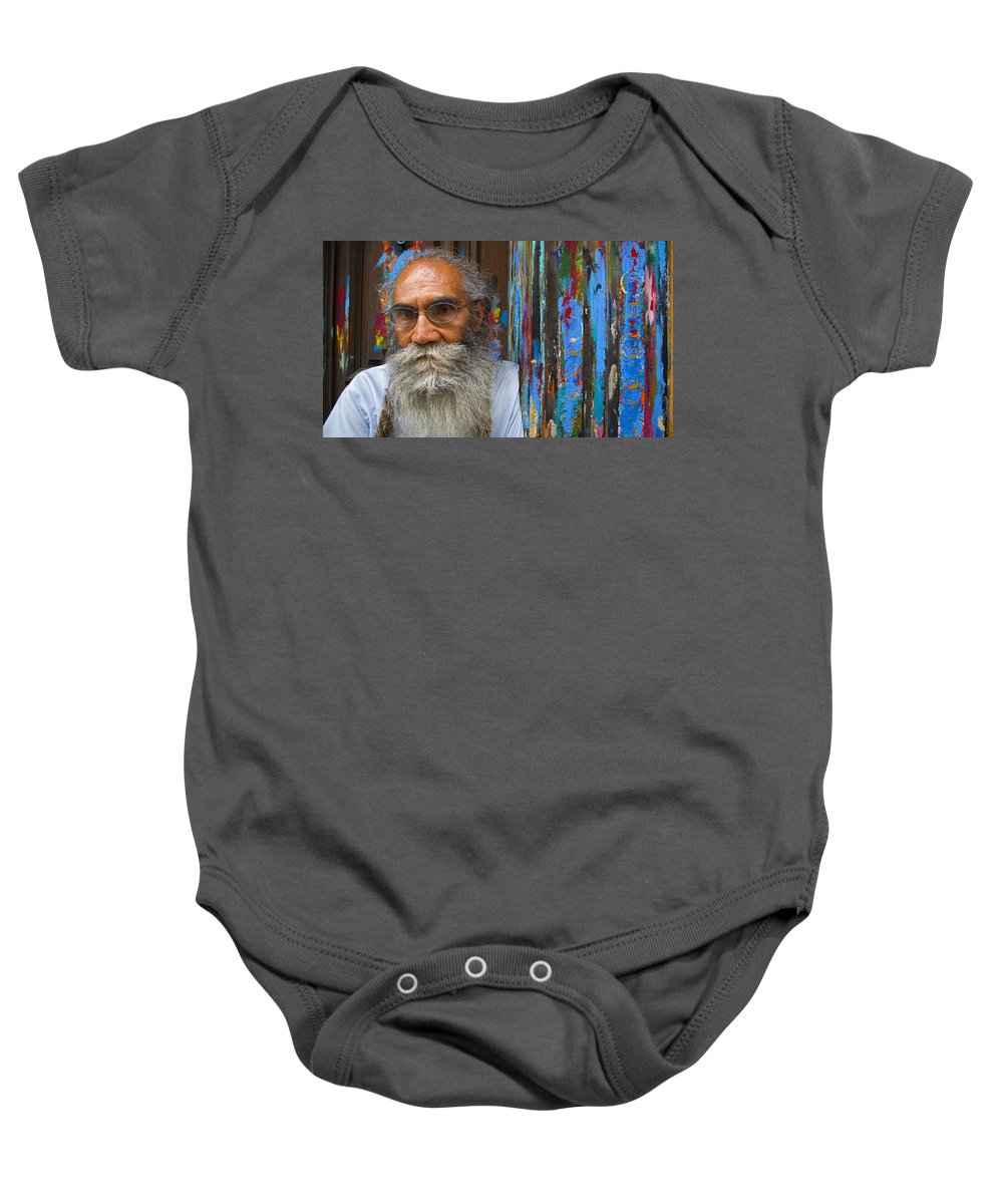 Architecture Baby Onesie featuring the photograph Orizaba Painter by Skip Hunt