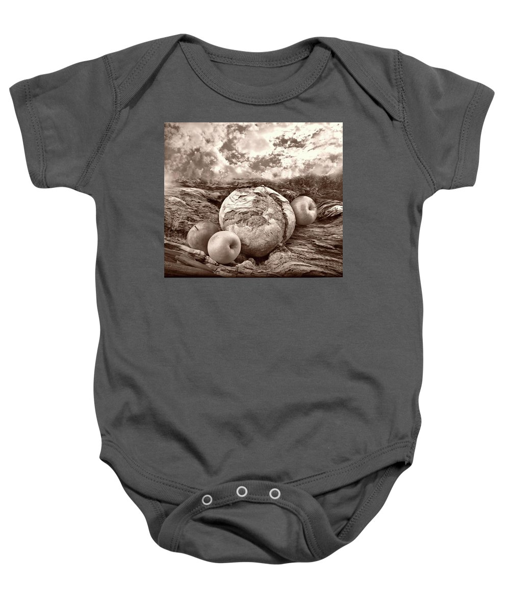 Bread Baby Onesie featuring the photograph Our Daily Bread by Manfred Lutzius