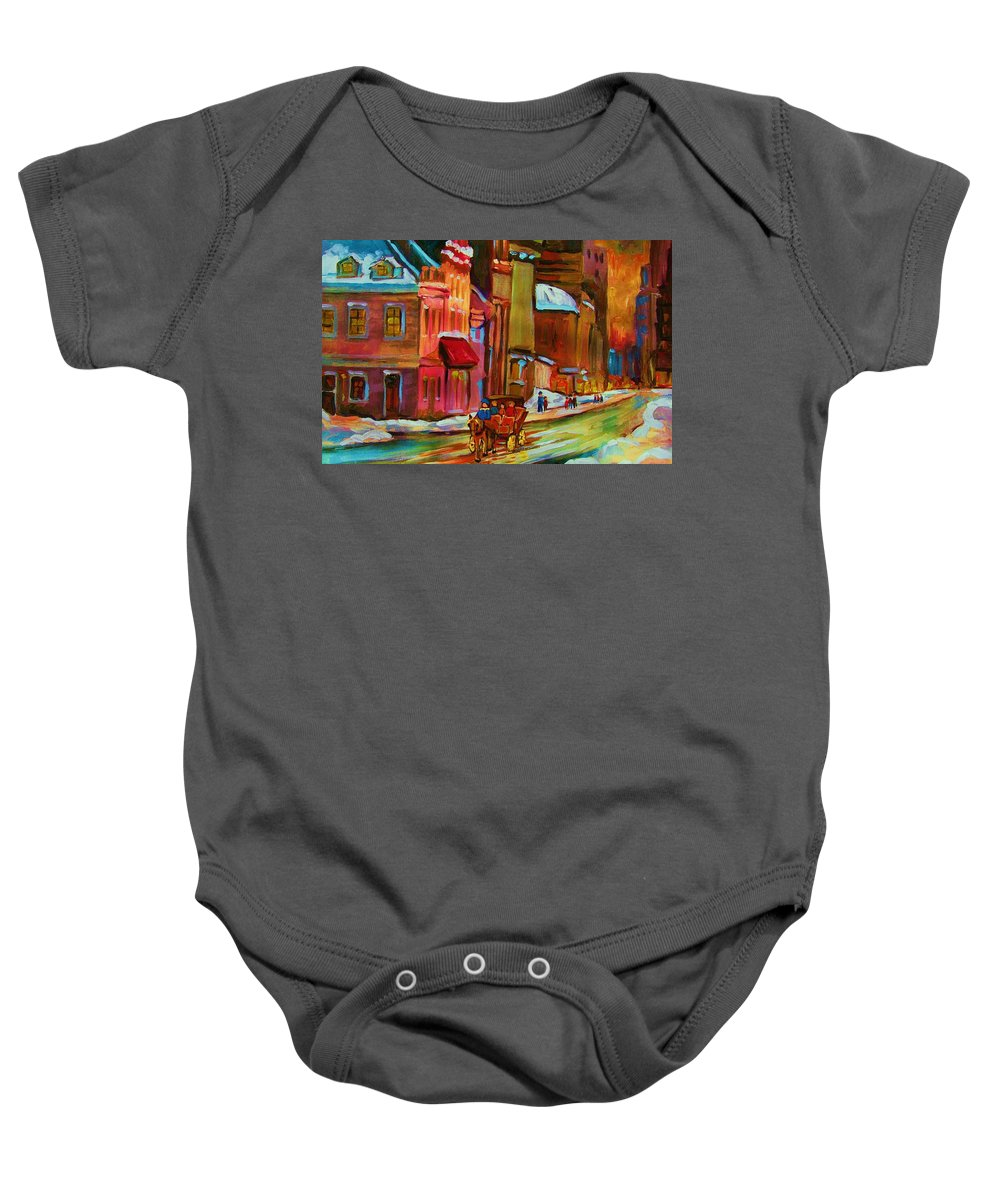 Montreal Baby Onesie featuring the painting Our Perfect Day by Carole Spandau