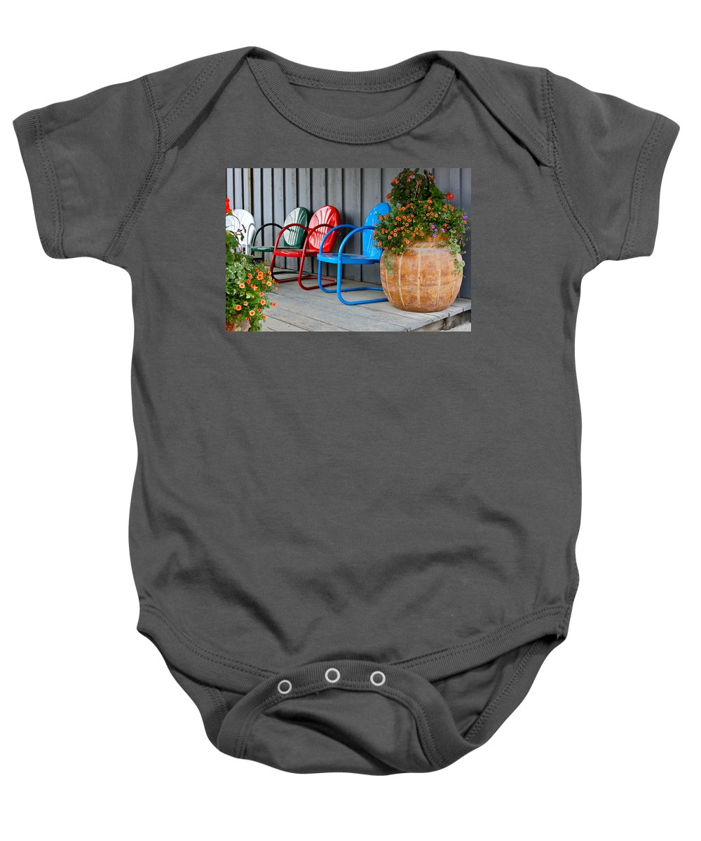 Chair Baby Onesie featuring the photograph Outdoor Living by Karon Melillo DeVega