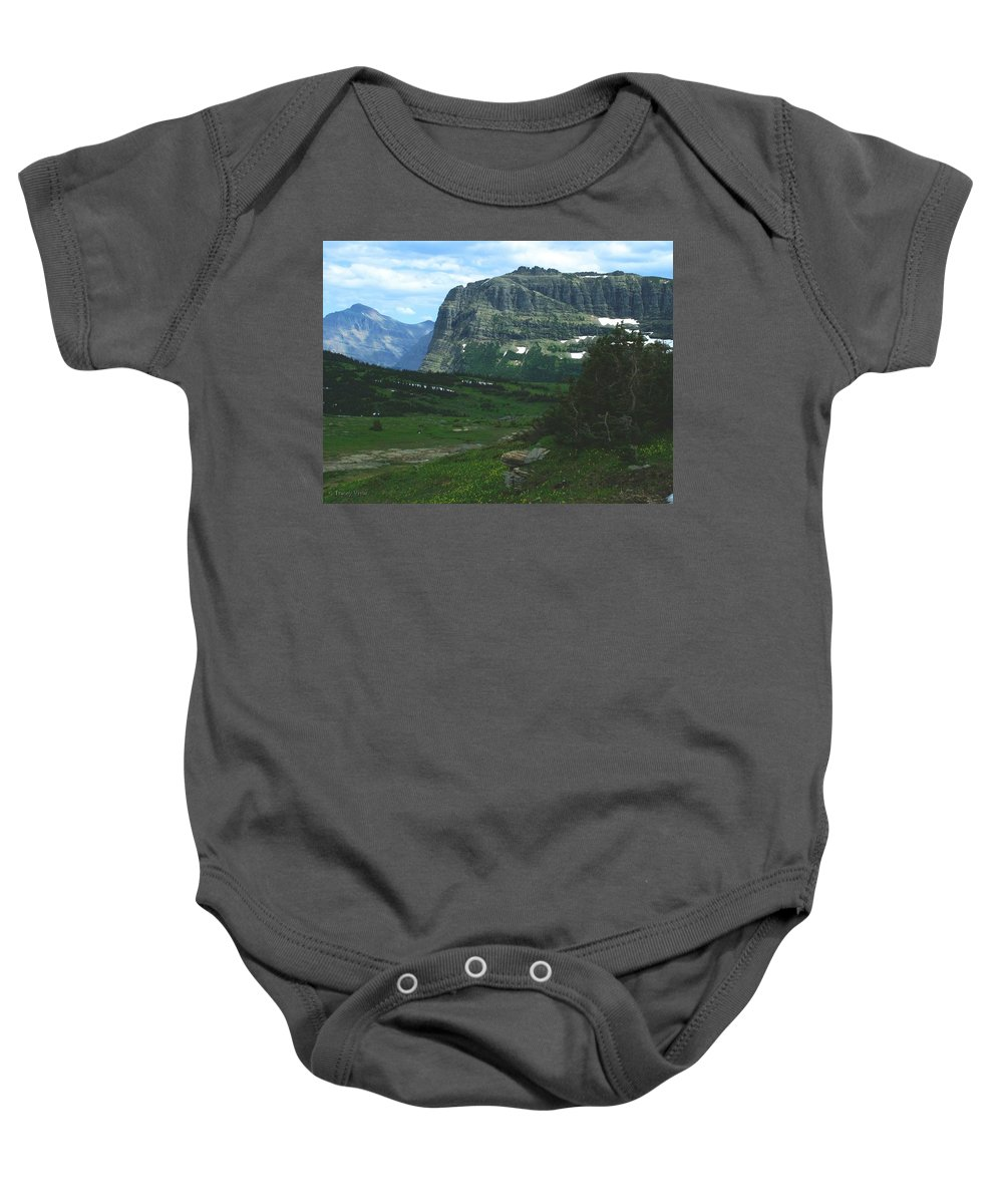 Logan's Pass Baby Onesie featuring the photograph Over Logan's Pass by Tracey Vivar