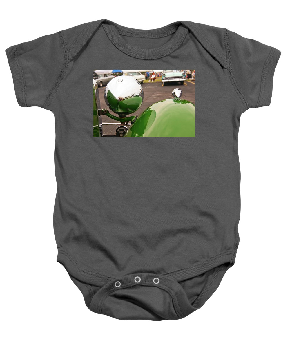 Antique Car Baby Onesie featuring the photograph Over My Shoulder 2042 by Guy Whiteley