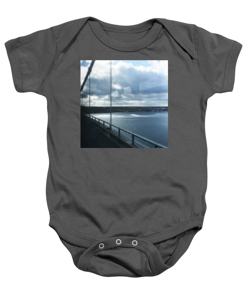 Bridge Baby Onesie featuring the photograph Over The Bridge by Irina Totolici