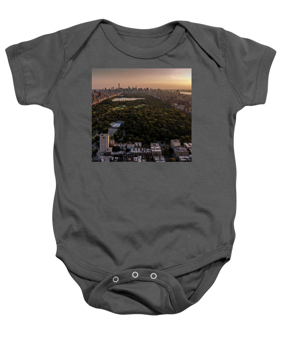 Landscape Prints Canvas Iphone Case Galaxy Case Cityscape Skyline Art Frame New York Art Buildings Sunset Sunrise Night Photography Photo Photography Love Beautiful Nyc Urban Anthonyfields Anthony Fields Sale Leaves Color Fall Clouds Relax Night Photography Skyline Baby Onesie featuring the photograph Over The City Central Park by Anthony Fields