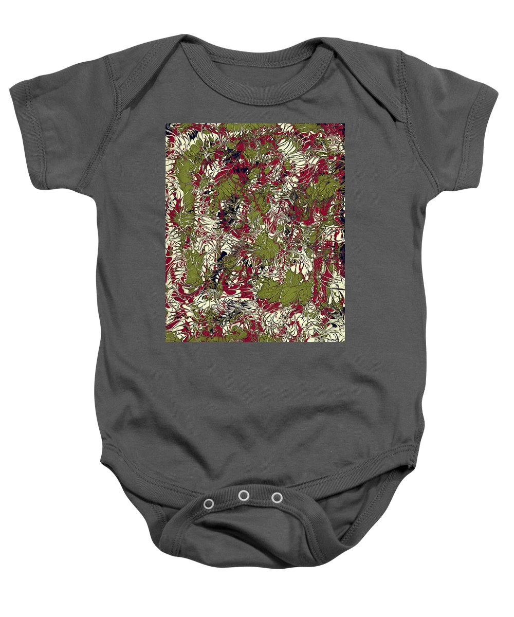 Keith Elliott Baby Onesie featuring the painting Overactive Christmas Celebration - V1lsf100 by Keith Elliott