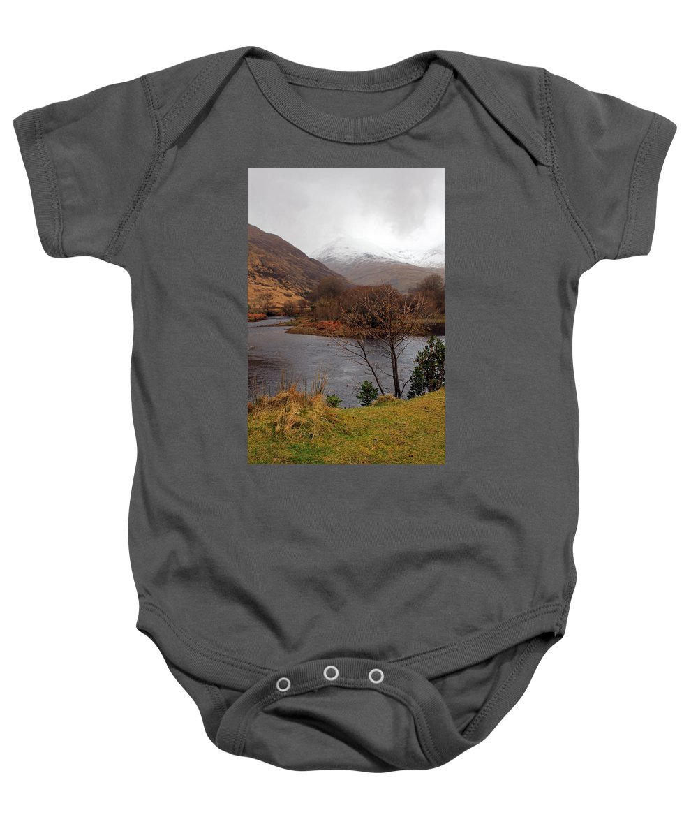 Mountians Baby Onesie featuring the photograph Overlooking Beauty by Jennifer Robin