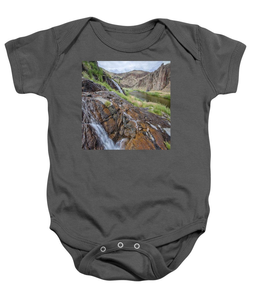 Columbia Gorge Baby Onesie featuring the photograph Owyhee River 1 by Ingrid Smith-Johnsen