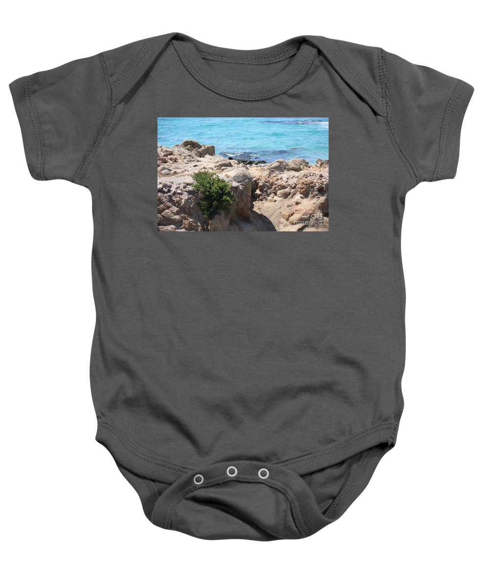 California Baby Onesie featuring the photograph Pacific Blue by Carol Groenen