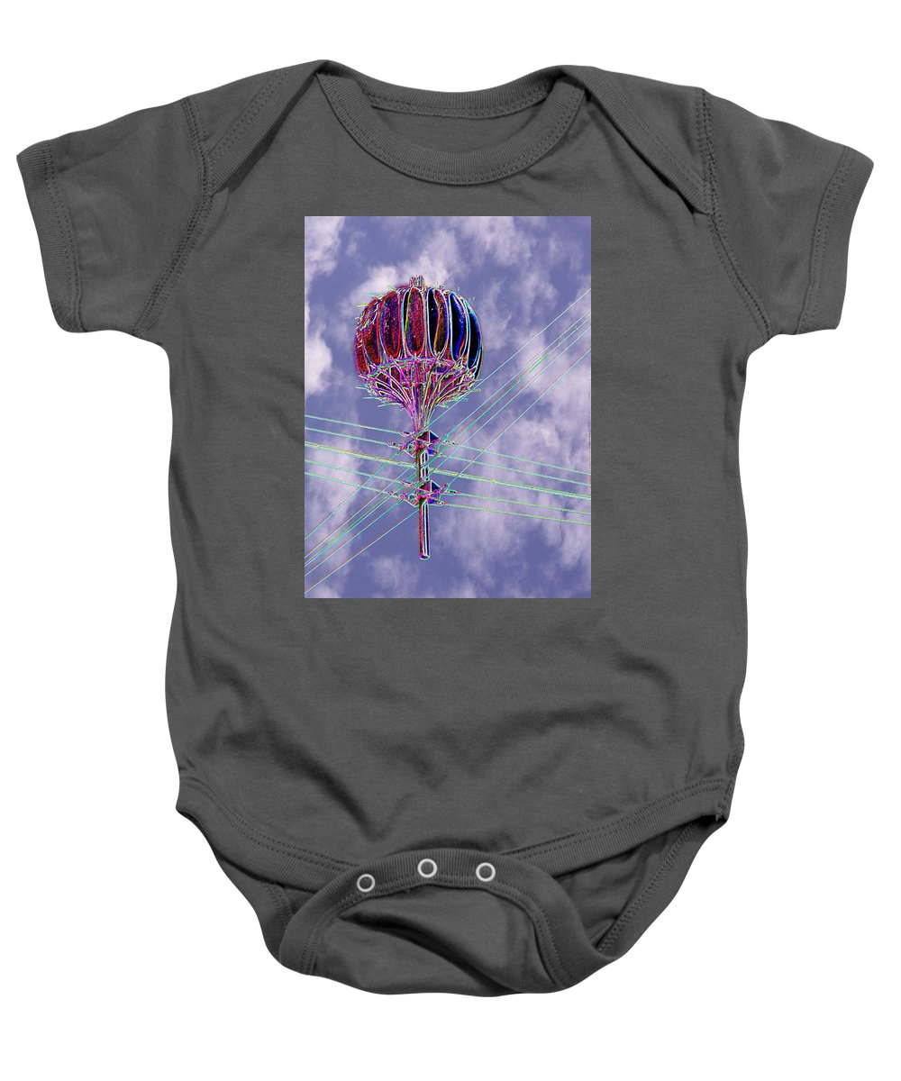 Seattle Baby Onesie featuring the photograph Pacific Science Center Lamp 2 by Tim Allen
