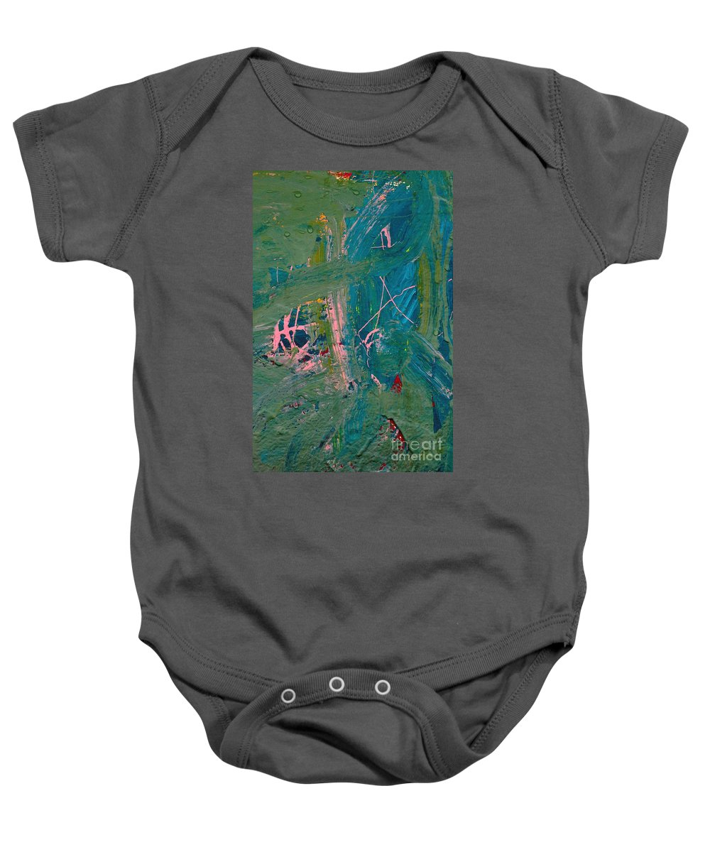 Abstract Baby Onesie featuring the photograph Paint Layers by Merrimon Crawford