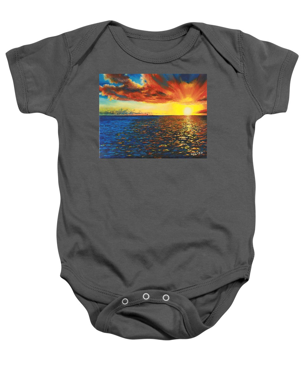 Chris Cox Baby Onesie featuring the painting Painted Horizon by Christopher Cox
