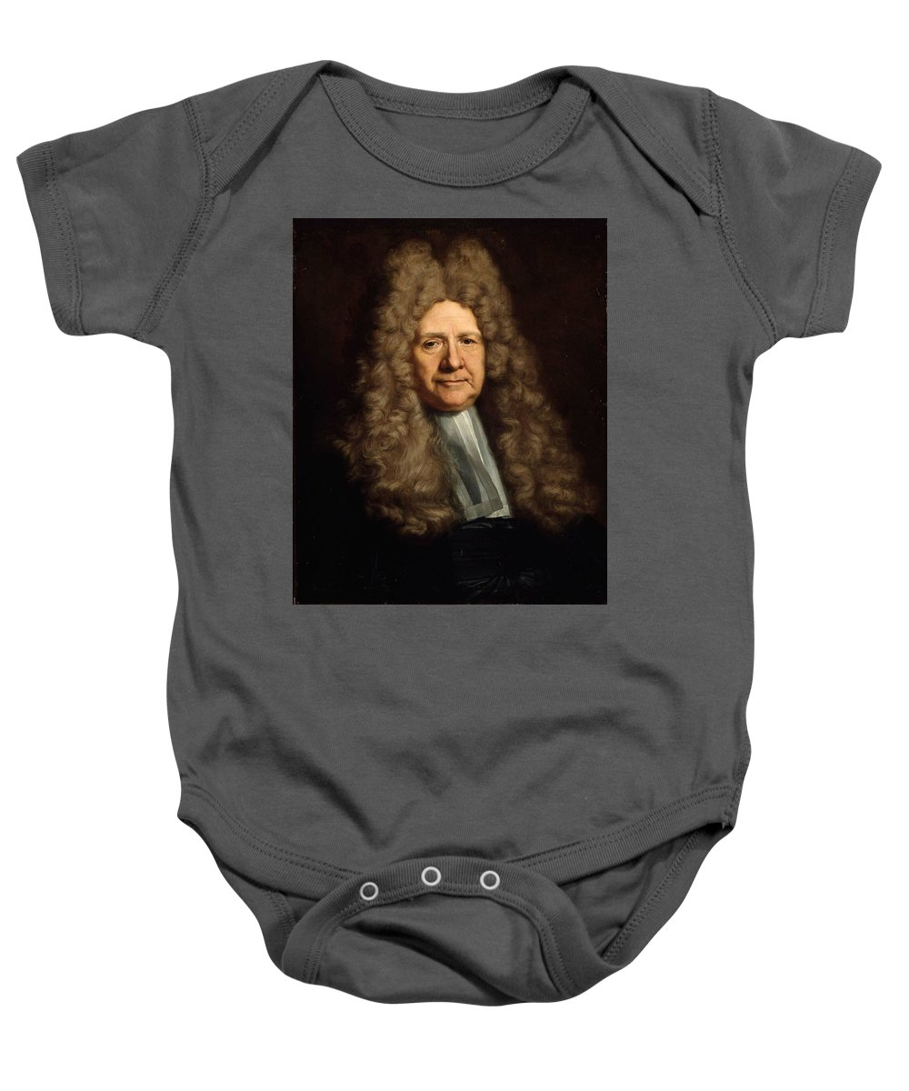 A Magistrate Painting Painted Originally By Hyacinthe Francois Rigau Y Ros Baby Onesie featuring the painting Painting by Francois Rigau