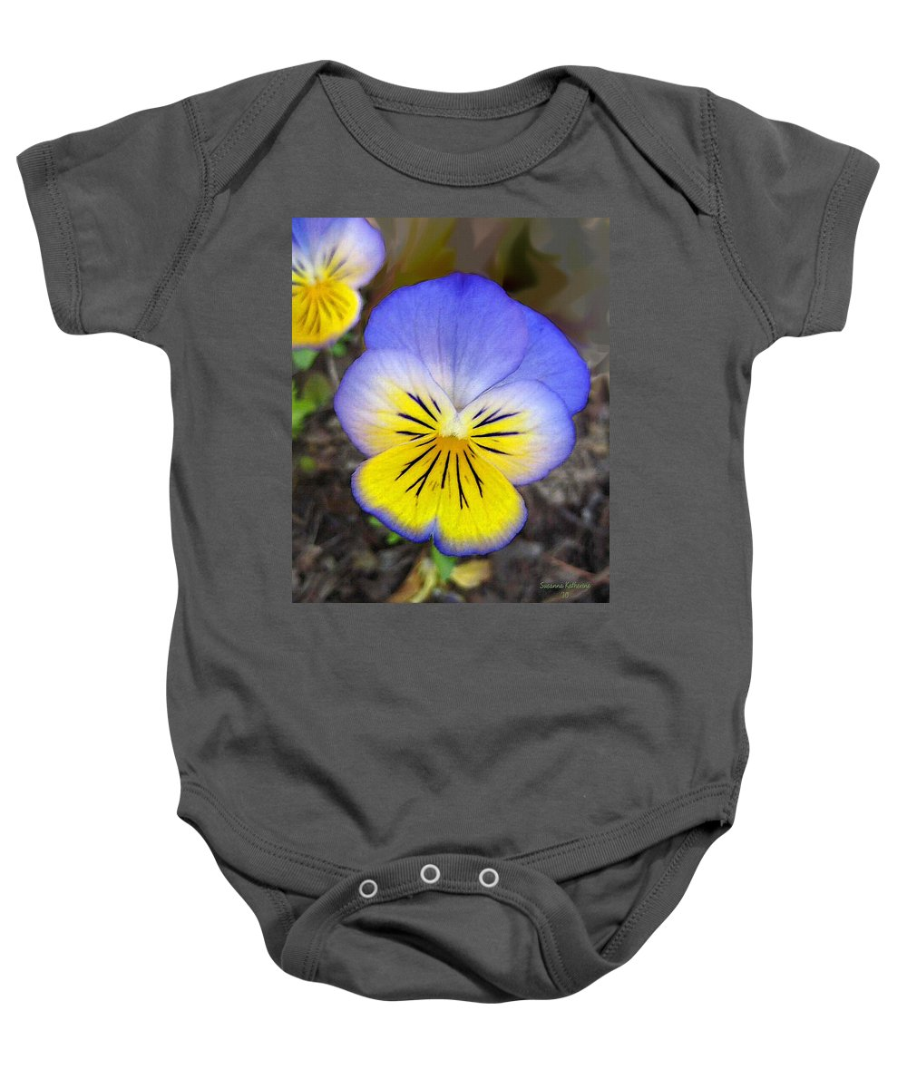 Flower Baby Onesie featuring the painting Painting Of Pansey Flower by Susanna Katherine