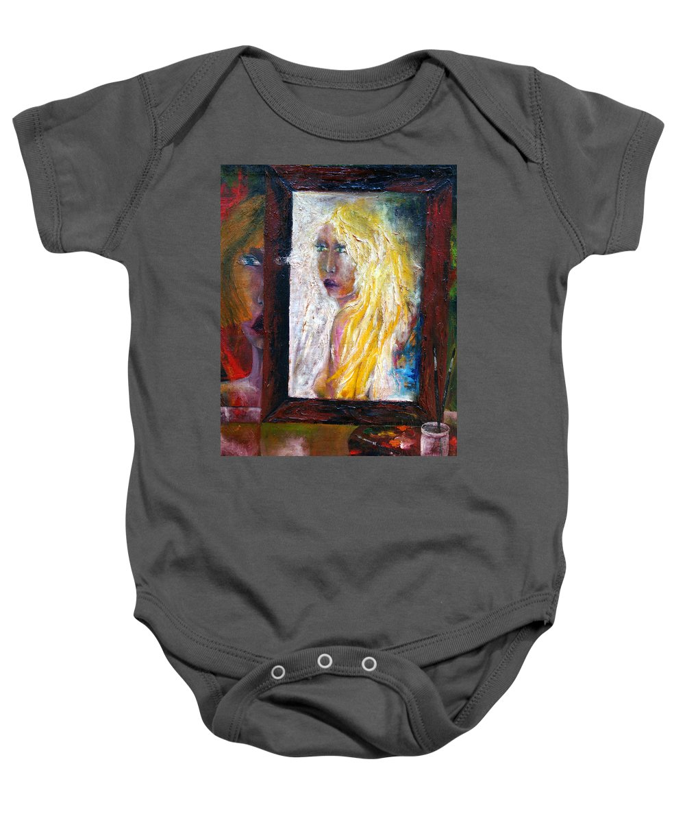 Imagination Baby Onesie featuring the painting Painting by Wojtek Kowalski